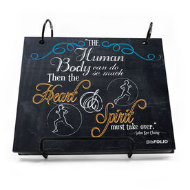 BibFOLIO® Race Bib Album - The Human Body Can Do So Much Chalkboard