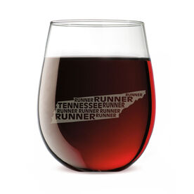 Stemless Wine Glass Tennessee State Runner