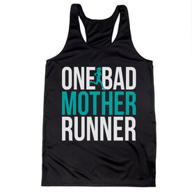 Women's Racerback Performance Tank Top - One Bad Mother Runner (Bold)