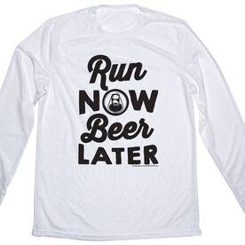 Men's Running Long Sleeve Tech Tee Run Club Run Now Beer Later