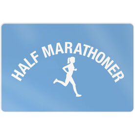 "Running 18"" X 12"" Wall Art - Half Marathoner Girl"