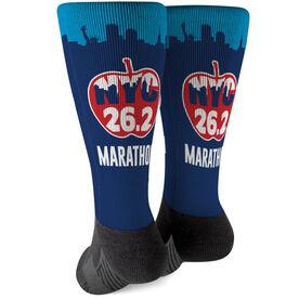 Running Printed Mid-Calf Socks - NYC Apple 26.2