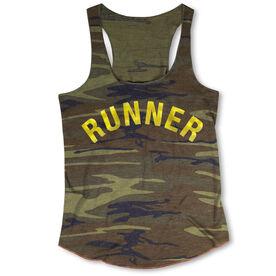 Running Camouflage Racerback Tank Top - Runner Arc (Foil)
