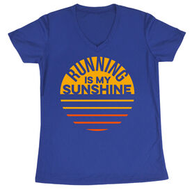 Women's Short Sleeve Tech Tee - Running is My Sunshine