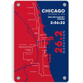 """Running 18"""" X 12"""" Aluminum Room Sign - Chicago 26.2 Route"""