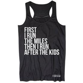 Flowy Racerback Tank Top - Then I Run After The Kids MRTT