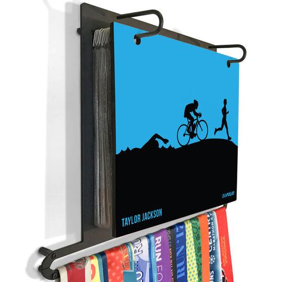 BibFOLIO Plus Race Bib and Medal Display Triathlon
