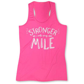 Womens' Performance Tank Top Stronger With Every Mile