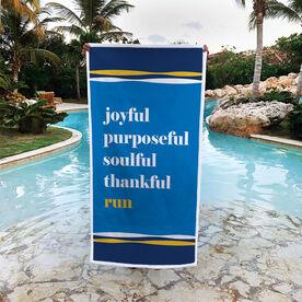 Running Premium Beach Towel - Run Mantra