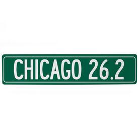 """Running Aluminum Room Sign - Chicago 26.2 (4""""x18"""")"""