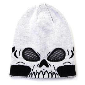 Happy Hatter Skull Beanie Hat & Mask