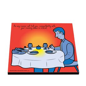 Life On The Run - Running Shoe Romance - Glossy Tile Coaster
