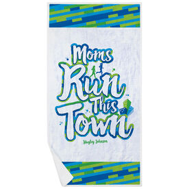 Running Premium Beach Towel - Moms Run This Town Script
