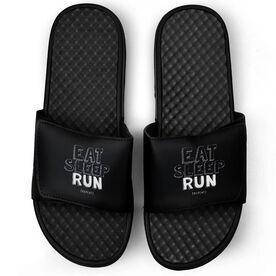 Running Black Slide Sandals - Eat Sleep Run Repeat