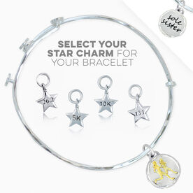 Livia Collection Sterling Silver and Gold Vermeil Sole Sister Token Adjustable Bangle