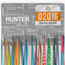 Running Large Hooked on Medals and Bib Hanger - Running Inspiration