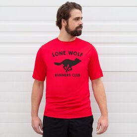 Men's Running Short Sleeve Tech Tee - Run Club Lone Wolf