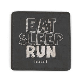 Running Stone Coaster - Eat Sleep Run Repeat