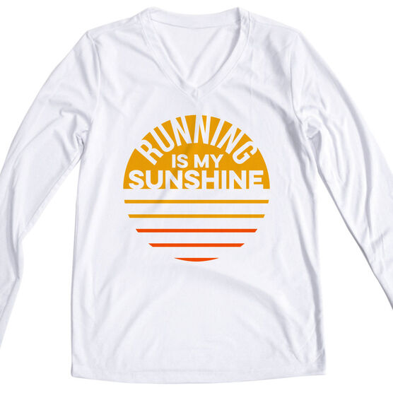 Women's Long Sleeve Tech Tee - Running is My Sunshine