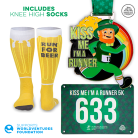 Virtual Race - Kiss Me I'm a Runner 5K - BEER SOCKS (2020)
