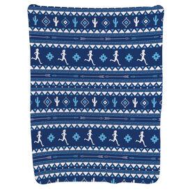 Running Baby Blanket - Running Girl Tribal Pattern
