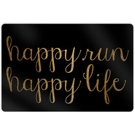 "Running 18"" X 12"" Wall Art - Happy Run Happy Life"