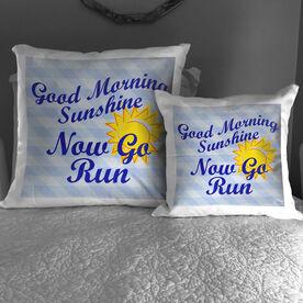 Running Throw Pillow Good Morning Sunshine