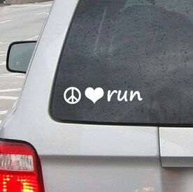 Peace Love Run Vinyl RUNNERDecal