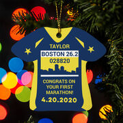 Running Ornament - Boston 26.2 Shirt