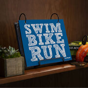 BibFOLIO® Race Bib Album - Swim Bike Run (Stacked)