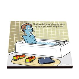 Life On The Run - A Soothing Ice Bath - Glossy Tile Coaster