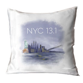 Running Throw Pillow - New York City Sketch
