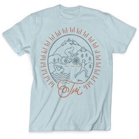 Vintage Triathlon T-Shirt - Tri Crest
