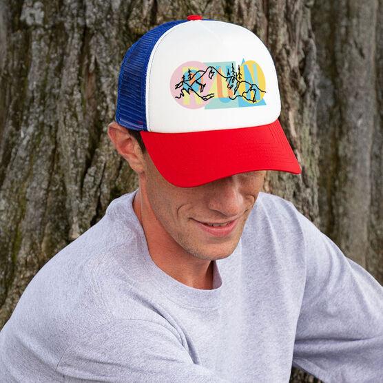 Running Trucker Hat - Run Mountain