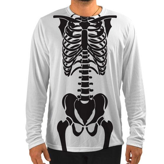 Men's Running Customized Long Sleeve Tech Tee Skeleton