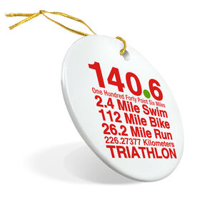 Triathlon Porcelain Ornament 140.6 Math Miles