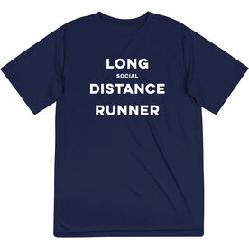 Short Sleeve Performance Tee - Long Social Distance Runner