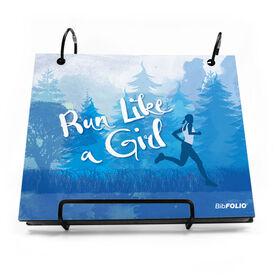 BibFOLIO® Race Bib Album - Run Like a Girl (FOREST)