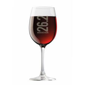 Running Wine Glass 26.2 Marathon Vertical