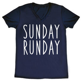 Women's Running Short Sleeve Tech Tee - Sunday Runday