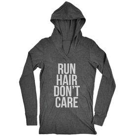 Women's Running Lightweight Performance Hoodie - Run Hair Don't Care