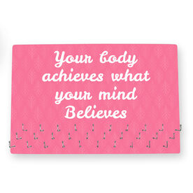 Running Large Hooked on Medals Hanger - Customize Me Quote Script