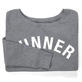 Running Fleece Wide Neck Sweatshirt - Runner Arc