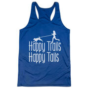 Women's Racerback Performance Tank Top - Happy Trails Happy Tails