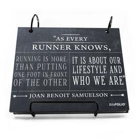 BibFOLIO® Race Bib Album - As Every Runner Knows Chalkboard