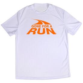 Men's Running Short Sleeve Tech Tee Gone For a Run Logo [White/Adult Small] - SS