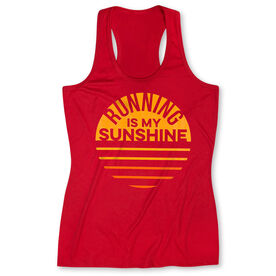 c2aa150118 Women's Performance Tank Top - Running is My Sunshine
