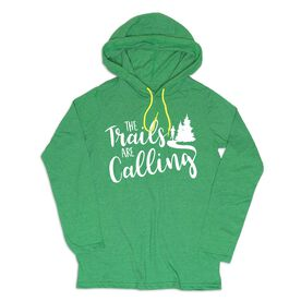 Women's Running Lightweight Hoodie - The Trails Are Calling