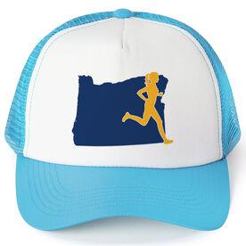 Running Trucker Hat - Oregon Female Runner