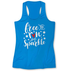 Women's Performance Tank Top - Free To Run And Sparkle